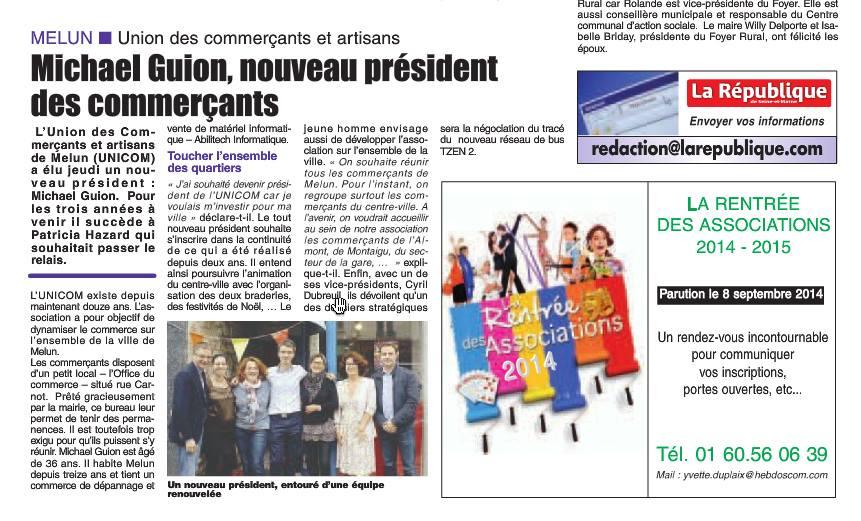 Michaël GUION, nouveau président des commerçants UNICOM Melun