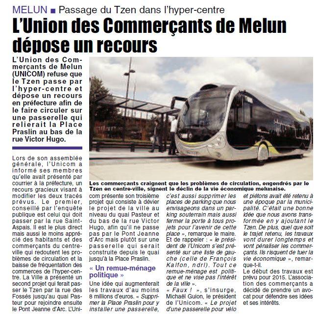 L'union des commerçants de Melun dépose un recours