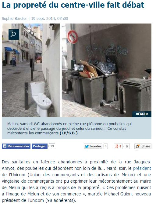 La propreté du centre-ville fait débat