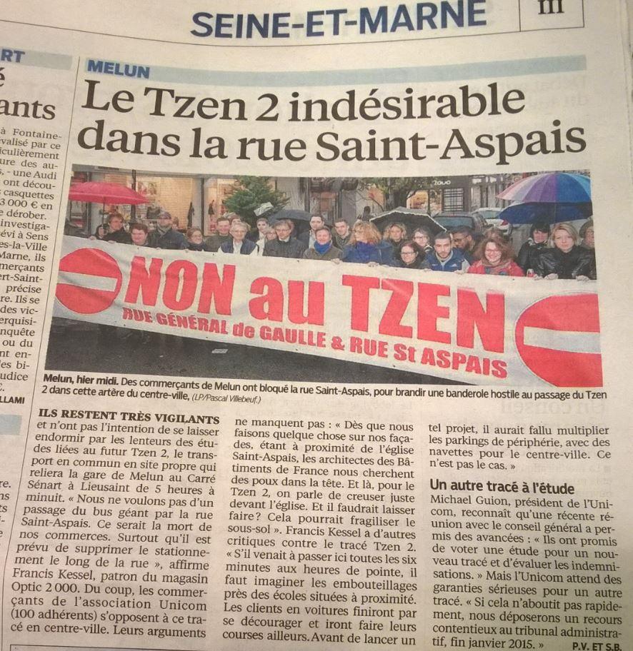 Non au Tzen rue du Génral de Gaulle et Rue Saint-Aspais