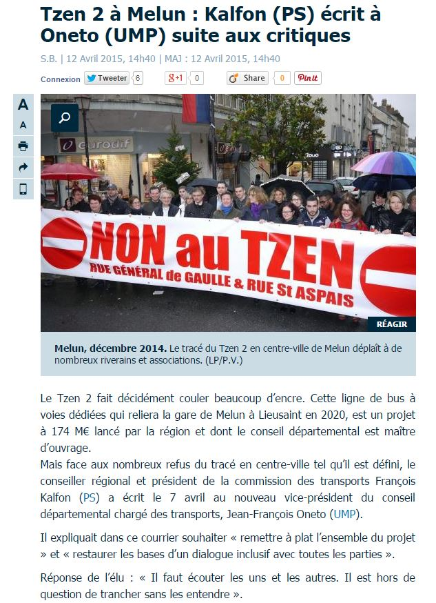 Tzen 2 à Melun : Kalfon écrit à Oneto suite aux critiques