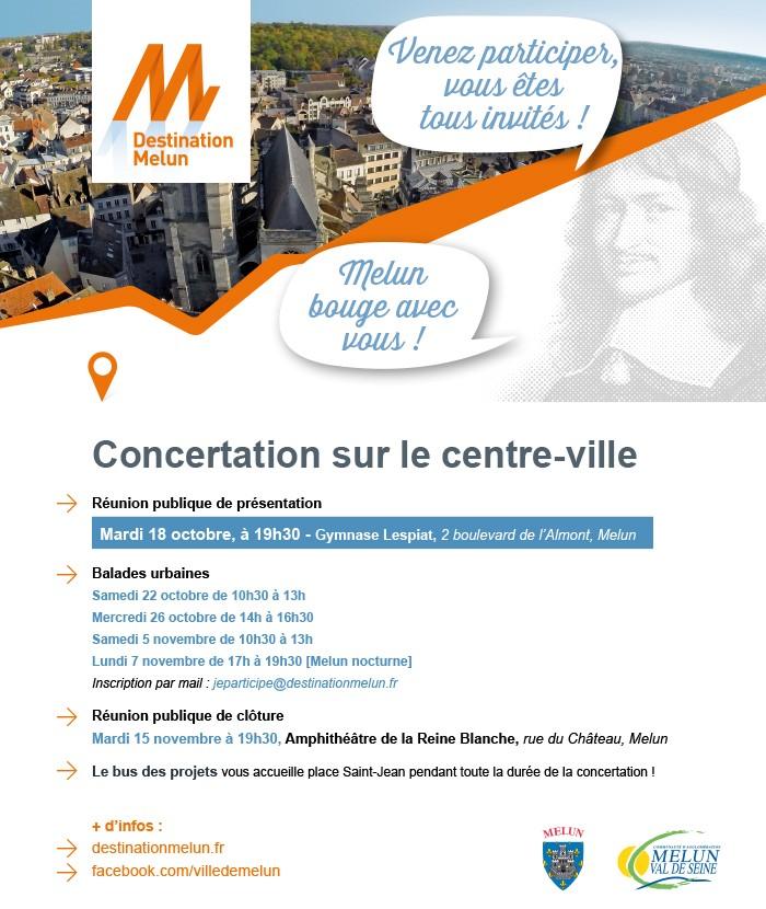 destination Melun - dates de la concertation