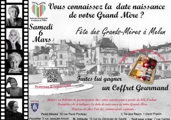 Affiche UNICOM Place Saint Jean Melun fête des grands-mères